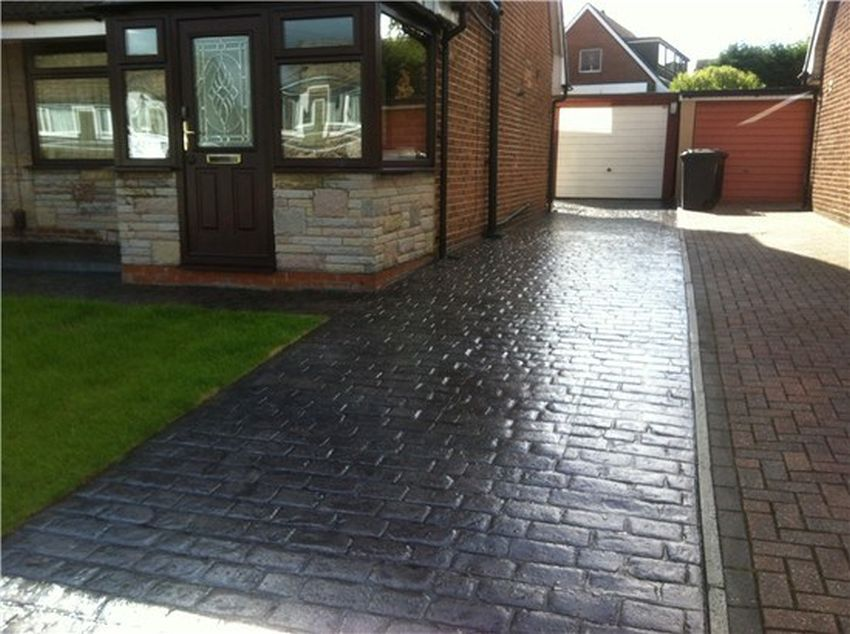pattern imprinted concrete driveways in Fleetwood
